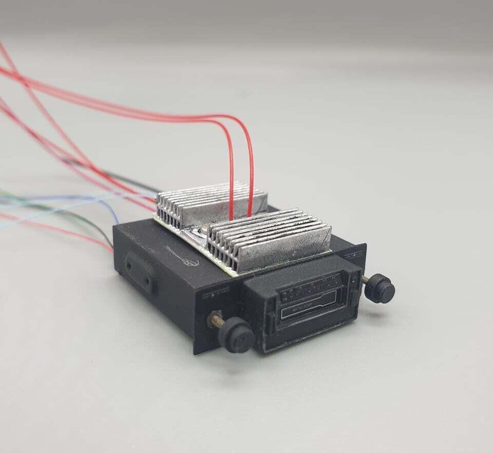 Delorean 1:8 scale Radio & Heatsink set