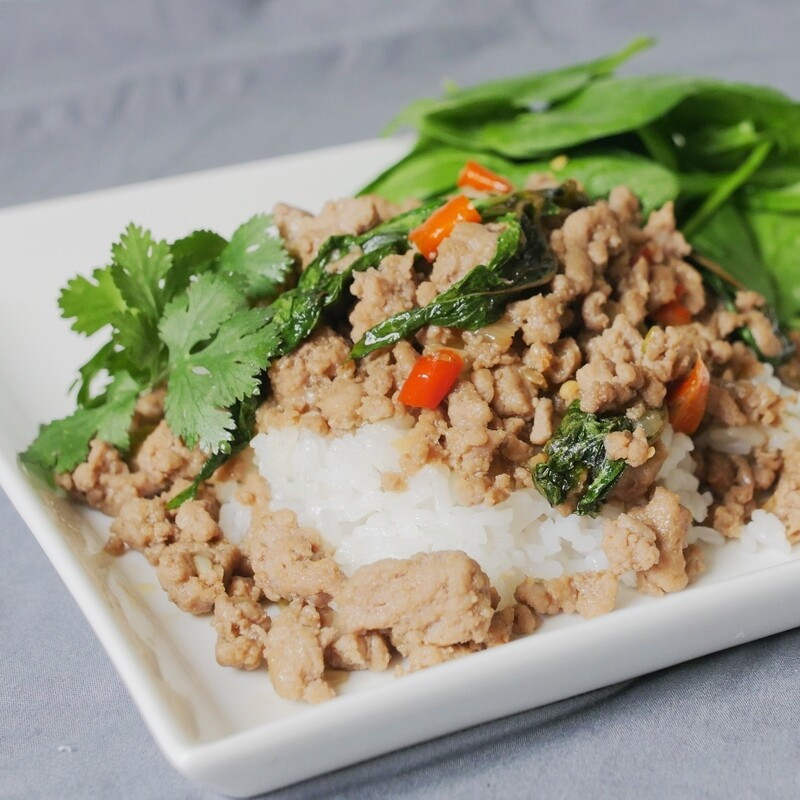 Thai Basil Ground Turkey (Pad Gaprao)