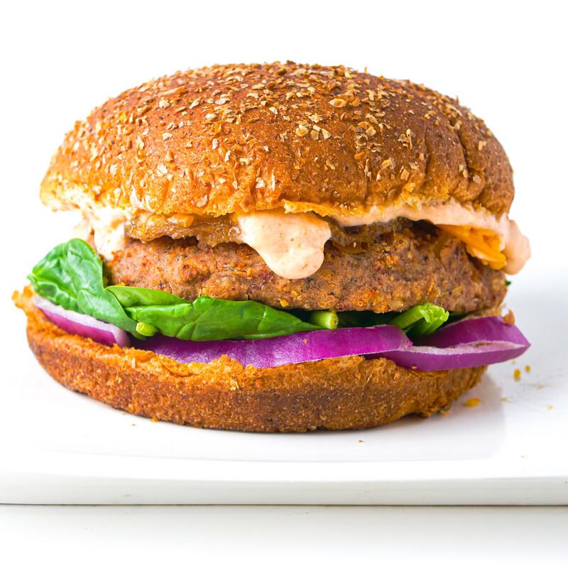 Teriyaki Pineapple Vegan Burger
