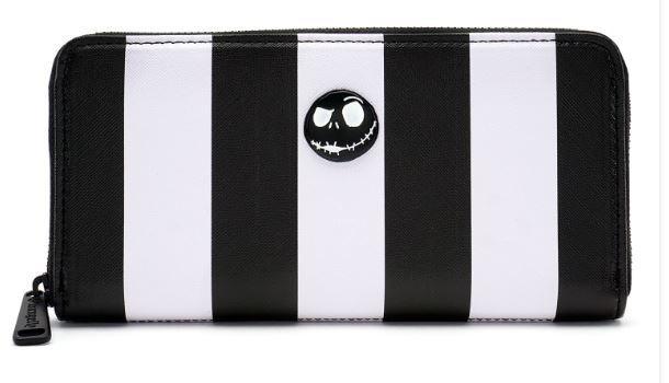 Nightmare Before Christmas Striped Zip Around Wallet