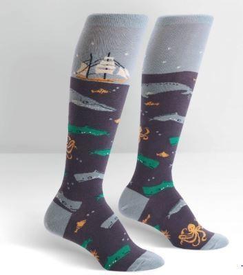 Sea Voyage Knee High Socks