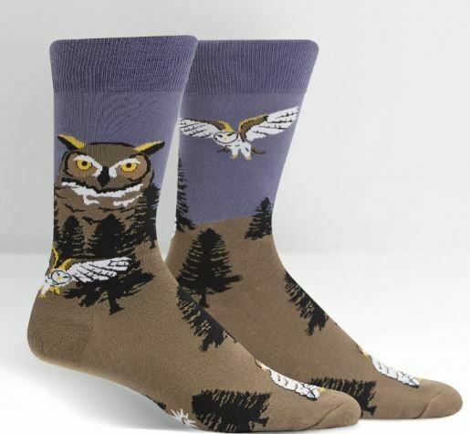 Owl Mountain Men's Crew Socks