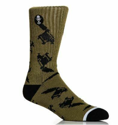 Machined Socks Olive/black