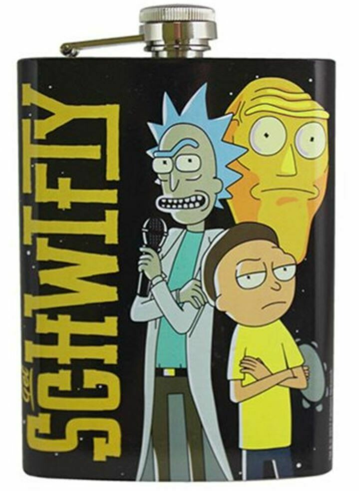 Rick And Morty Schwifty Flask