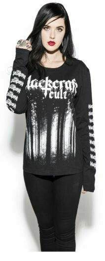 Black Metal Forest Long Sleeve