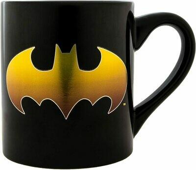 Batman Gold Bat Logo Mug
