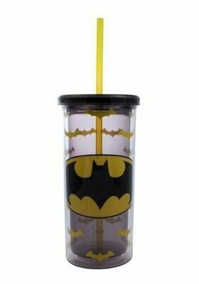 Batman Logo Tall Cup With Straw