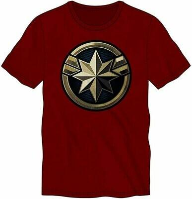 Captain Marvel Icon Dark Red Tee