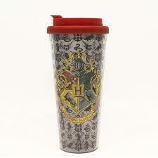 Harry Potter Hogwarts Crest 24 Oz Plastic Travel Mug