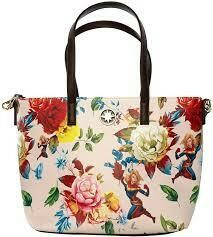 Loungefly X Marvel Captain Marvel Floral Tote Bag