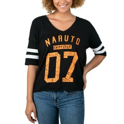 Naruto 07 JRS Black V-neck Tee