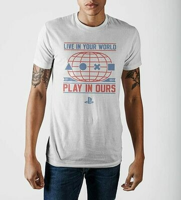 PlayStation Live In Your World Play In Ours Tee