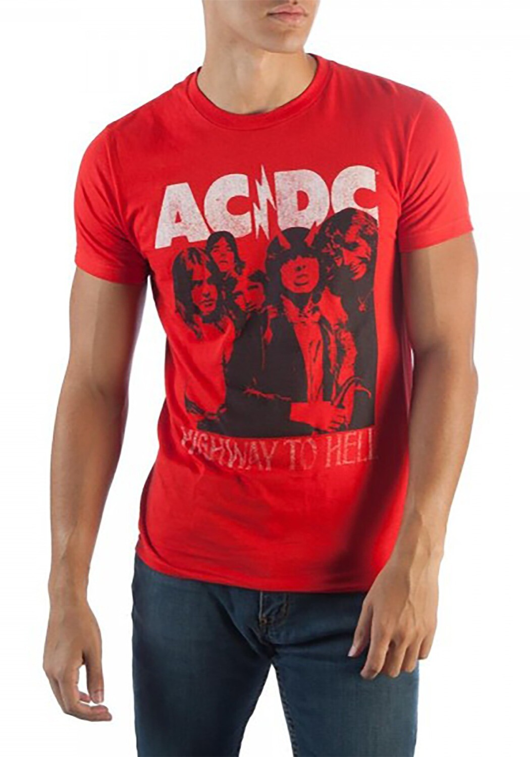 Red ACDC Tee