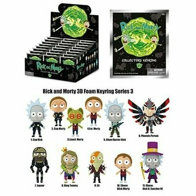 Rick And Morty Series 3 Figural Key Chain
