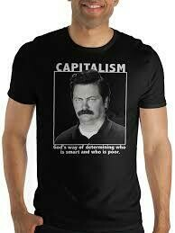 Ron Swanson Capitalism Tee