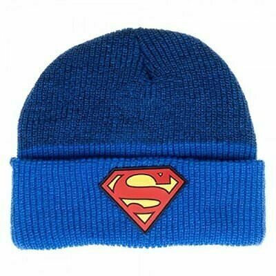Superman Rubber Logo Beanie
