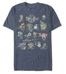 Super Mario Kart Two Timing Heather Navy Tee