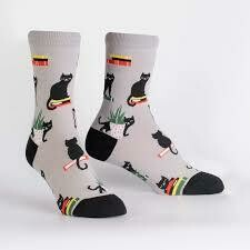 Booked For Meow Socks