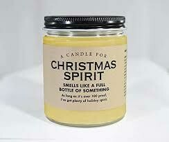 Christmas Spirit Candle