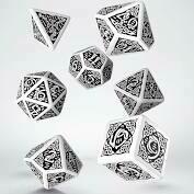 Celtic Dice Set 3D White/Black
