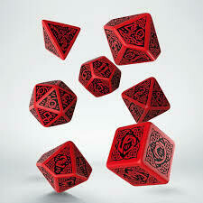 Celtic Dice Set 3D Red/Black
