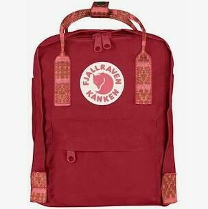 Deep Red-random Print Kanken Mini