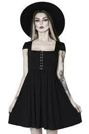 Punk-Tured Babydoll Dress