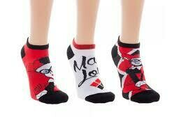 Harley Quinn 3 Pack Ankle Socks