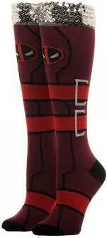 Deadpool Knee High Socks