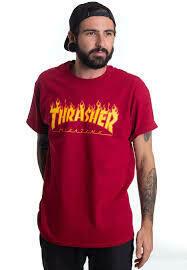 Thrasher Flame Cardinal Red