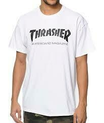 Thrasher White Script SS Tee