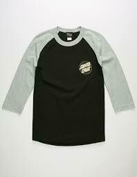 Santa Cruz Black Raglan
