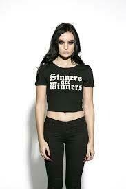 Sinners Are Winners Crop Top ES