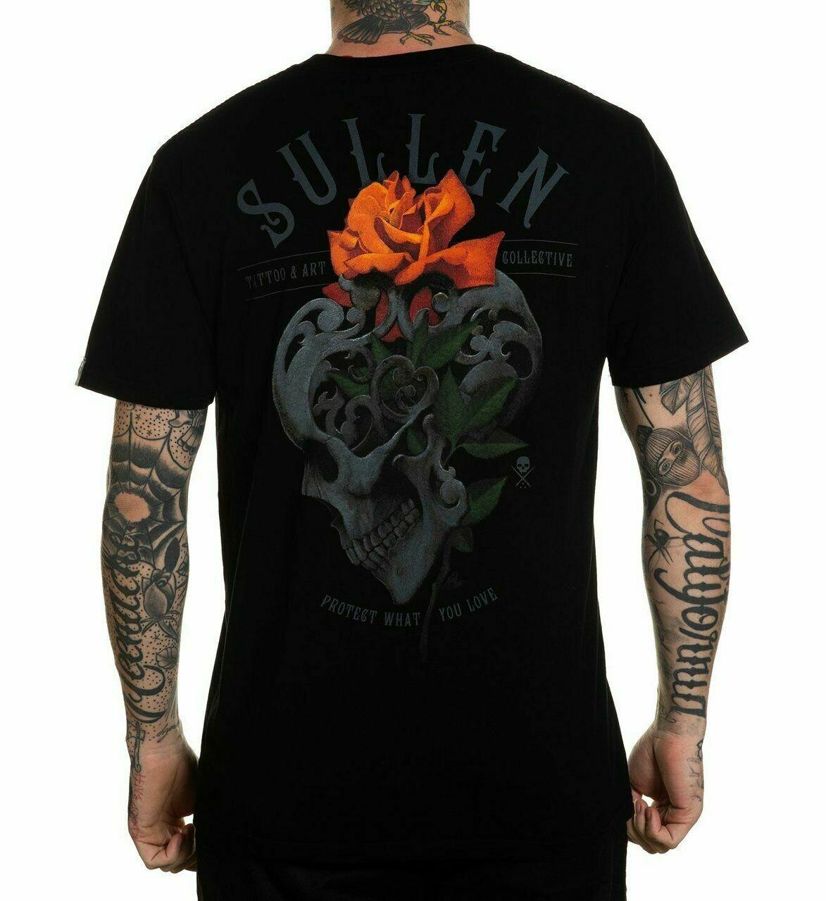 Sullen Skull Rose Black Tee