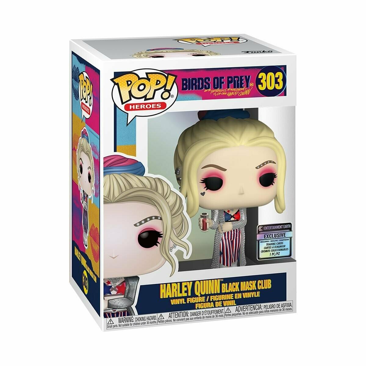Harley Black Mask Club Pop! & Card EE Excl.