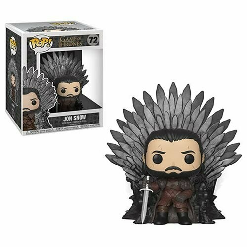 Jon Snow Sitting On Throne Deluxe Pop