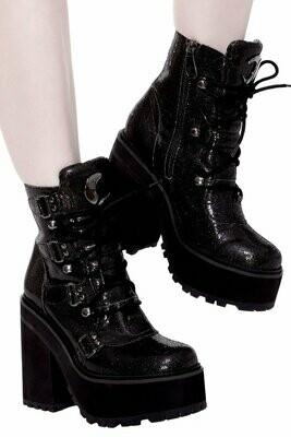 Broom Rider Boots (BLACK GLITTER)