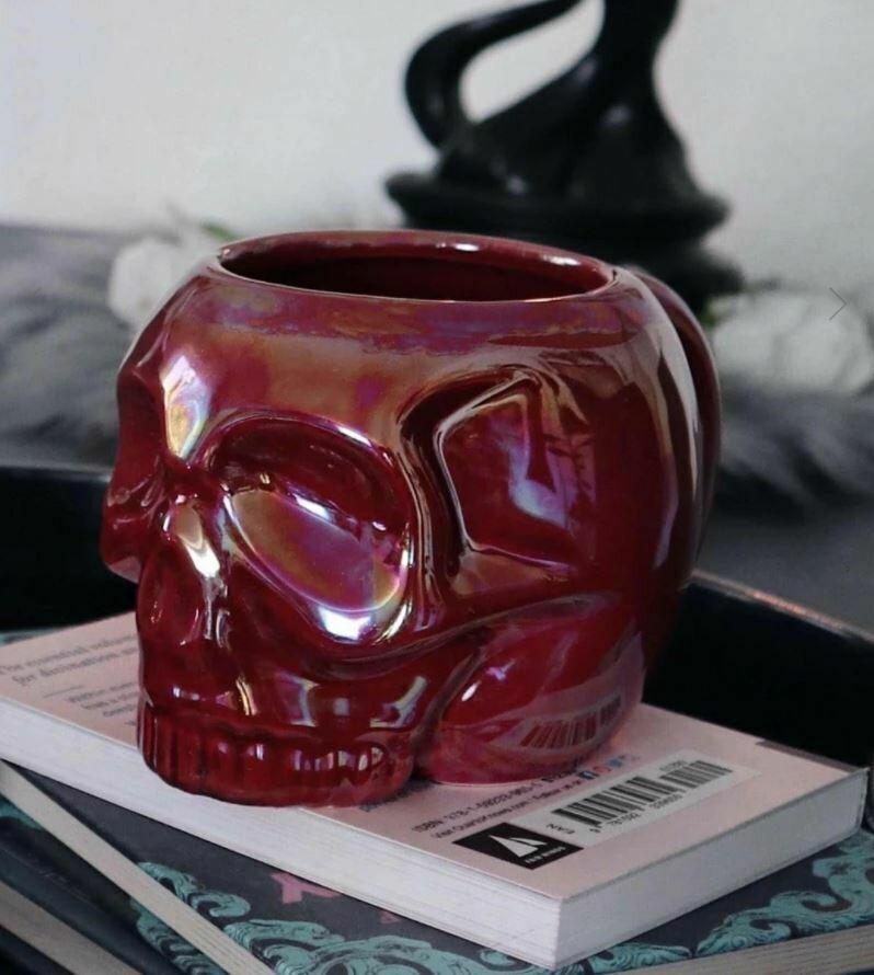 Skull Mug Blood Aura