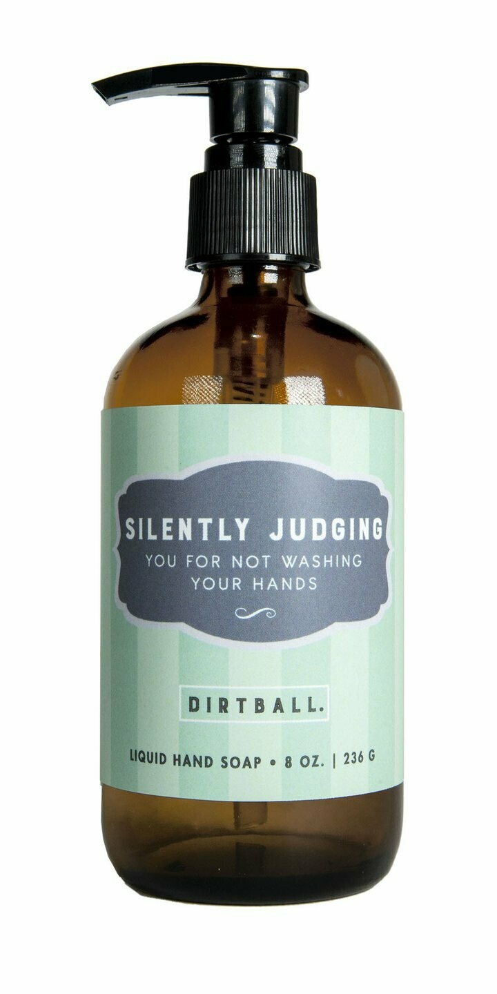 Silently Judging Liquid Soap