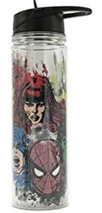 Marvel Comic Retro Heads Water Bottle