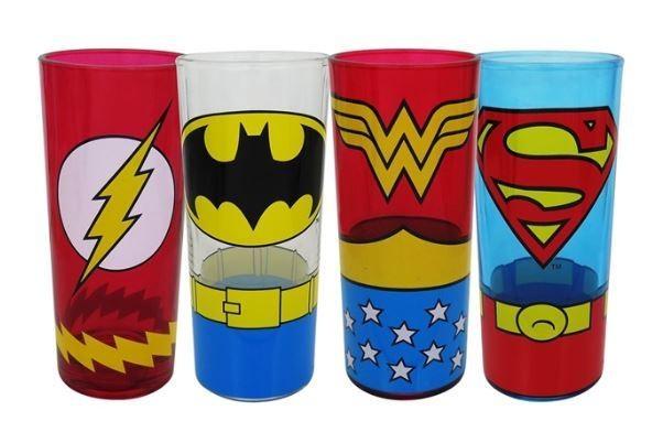 Justice League Glass Set