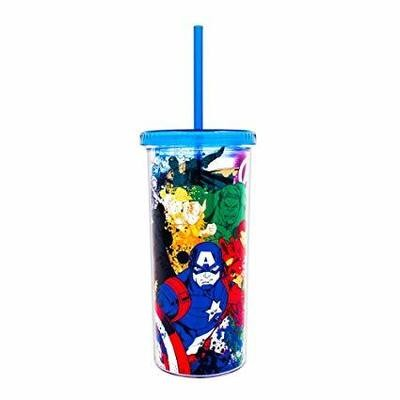 Avengers Group Line Art Tall Cup With Straw