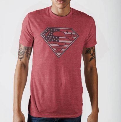 Superman American Flag Tee
