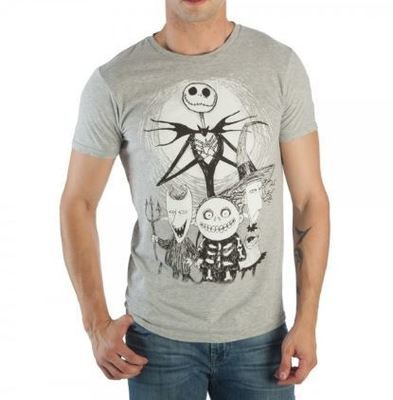 Grey Jack Skellington Tee