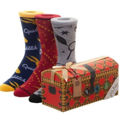 Harry Potter Quidditch Chest 3 Pack Crew Socks