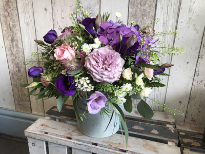 Flower Arrangement In a Container