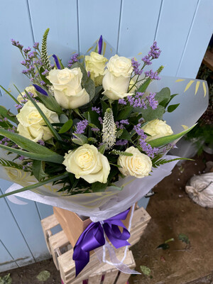 Purples and Whites bouquet