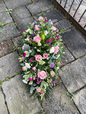 Pinks and Creams - Mixed Floral Coffin Spray