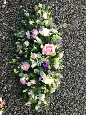 Pinks, Purples And Creams Double Ended Coffin Spray