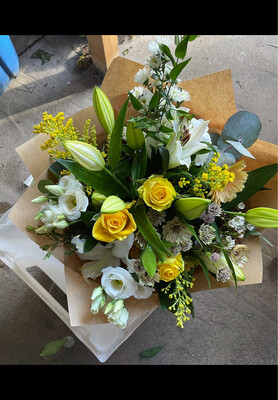 Yellow, Creams and Greens bouquet